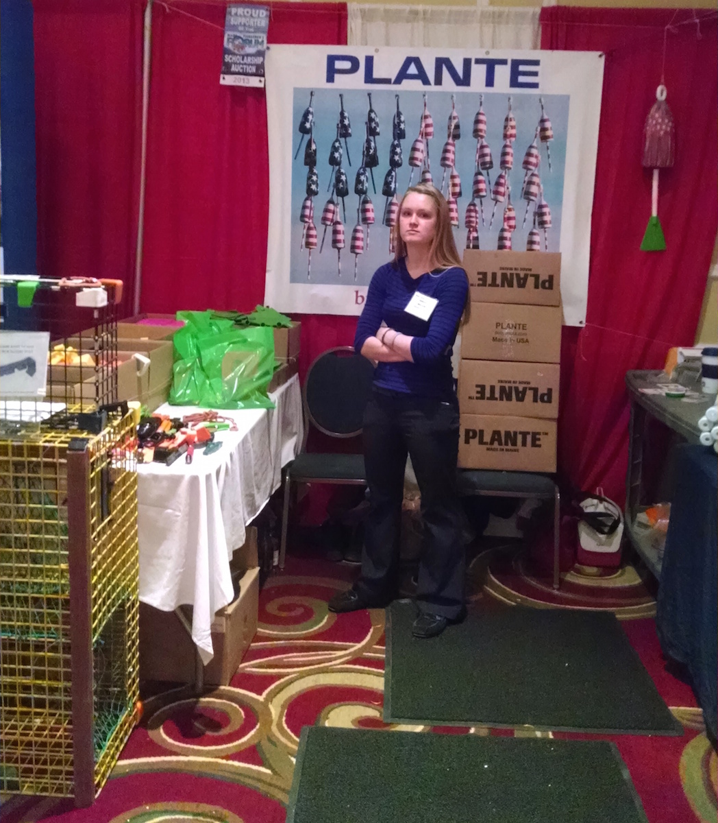 Sarah at the Plante Buoy Sticks Booth